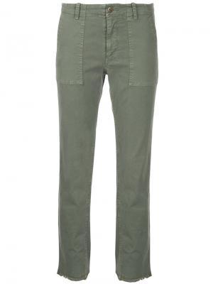 Укороченные брюки Jenna Nili Lotan. Цвет: зелёный