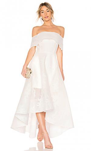 Вечернее платье tulip lace Bronx and Banco. Цвет: белый