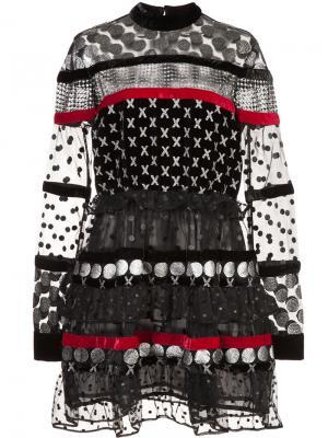 Расклешенное платье с вышивкой Dodo Bar Or. Цвет: чёрный
