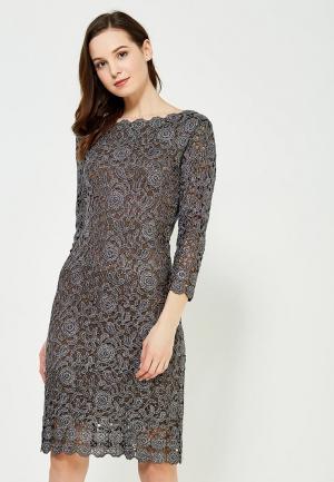 Платье Lusio. Цвет: серебряный