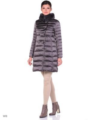 Пальто Malinardi. Цвет: антрацитовый
