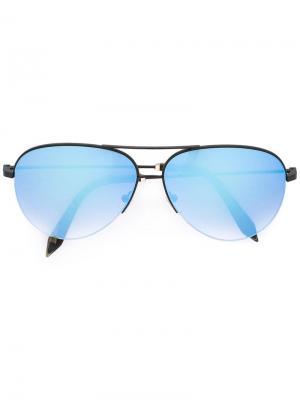 Солнцезащитные очки-авиаторы Victoria Beckham. Цвет: чёрный