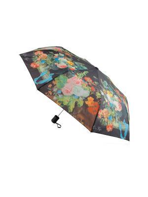 Зонт и сумка Цветы Дерево Счастья. Цвет: черный