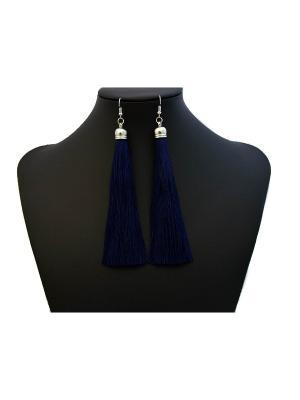 Серьги Miss Bijou. Цвет: темно-синий, синий