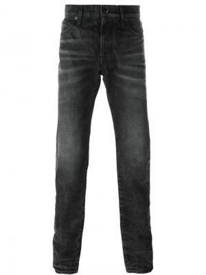 Зауженные джинсы Htc Hollywood Trading Company. Цвет: чёрный