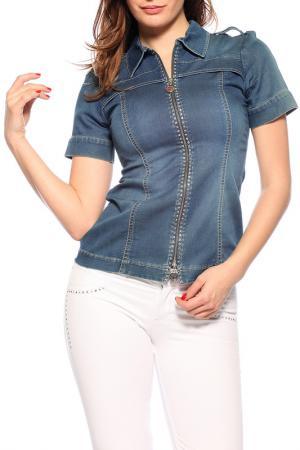 Рубашка GUITAR. Цвет: синий