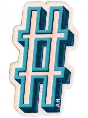 Стикер в виде хэштега Anya Hindmarch. Цвет: многоцветный