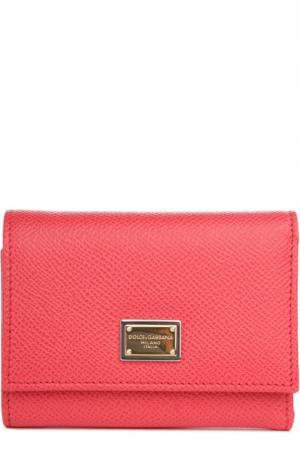 Кожаный кошелек Dolce & Gabbana. Цвет: розовый