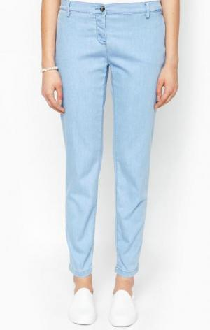 Голубые брюки чиносы Trussardi Jeans. Цвет: голубой
