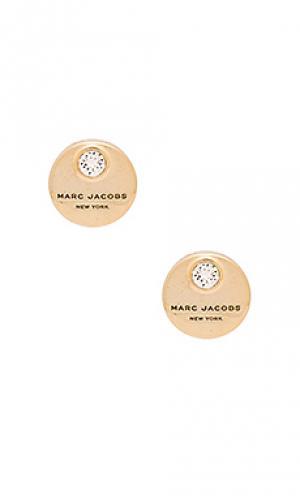 Серьги-гвоздики mj coin Marc Jacobs. Цвет: металлический золотой