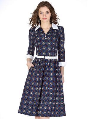 Платье OLIVEGREY. Цвет: синий, оранжевый