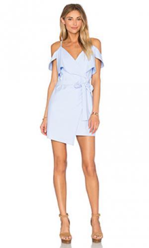 Платье с запахом Lucca Couture. Цвет: синий
