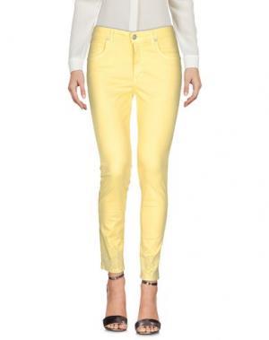 Повседневные брюки BLUE LUXURY. Цвет: желтый