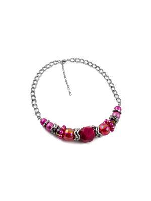 Дизайнерское ожерелье FOXTROT. Цвет: фуксия