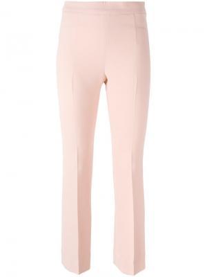 Слегка расклешенные брюки кроя слим Ermanno Scervino. Цвет: розовый и фиолетовый