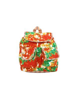 Рюкзак хлопок с декор. Отделкой ГАНГ. Цвет: оранжевый