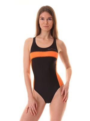 Купальник Sport Vision. Цвет: черный, светло-оранжевый