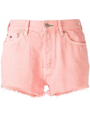 Шорты с завышенной талией Tommy Jeans. Цвет: розовый и фиолетовый