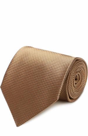 Шелковый галстук с узором Tom Ford. Цвет: золотой