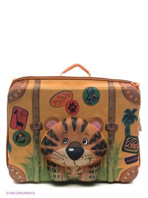 Чемодан Тигренок Okiedog Wild Pack. Цвет: оранжевый