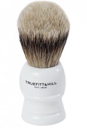 Помазок Шерсть барсука/Фарфор с серебром Wellington Truefitt&Hill. Цвет: бесцветный