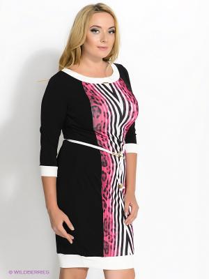 Платье VERDA. Цвет: черный, розовый