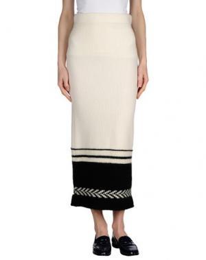 Длинная юбка DONDUP. Цвет: белый