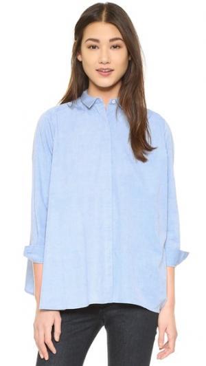 Рубашка Cam Intropia. Цвет: светло-голубой