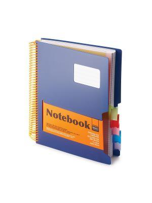 Бизнес-блокнот-1 а4-, 200 л. гр., разделители,пластиковая обл. ultimate basics, синий Альт. Цвет: синий