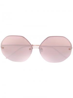 Солнцезащитные очки  с массивной оправой Linda Farrow. Цвет: розовый и фиолетовый