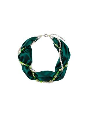 Шейный платок-ожерелье FOXTROT. Цвет: темно-зеленый