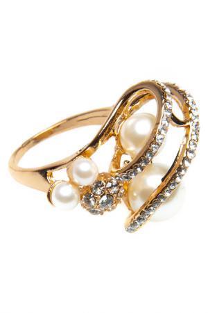 Кольцо Luisa Vannini Jewelry. Цвет: white, silver and gold