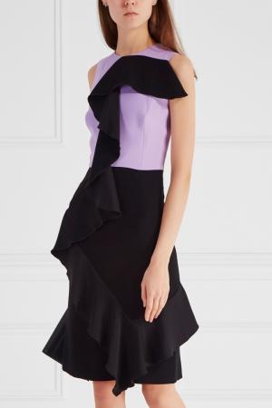 Комбинированное платье Chapurin. Цвет: сиреневый