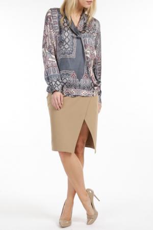 Блуза TOK. Цвет: серый