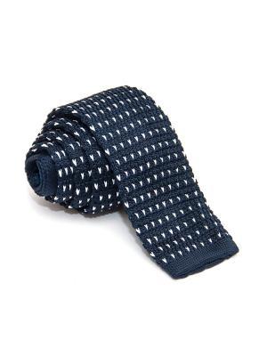 Галстук Churchill accessories. Цвет: темно-синий, синий, белый
