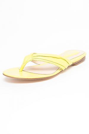 Шлепанцы Bloch. Цвет: ярко-желтый