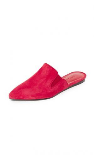 Замшевые туфли без задников Jenni Kayne. Цвет: красный