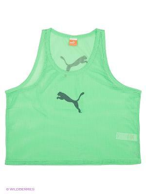 Майка спортивная Bib Puma. Цвет: зеленый