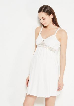 Сорочка ночная Hunny mammy. Цвет: белый