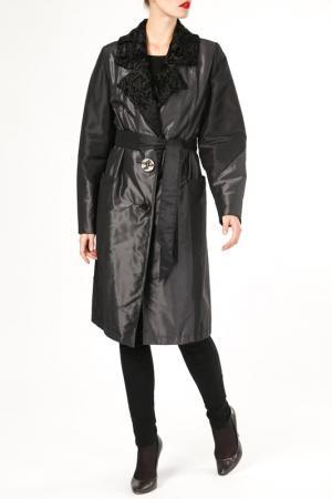 Пальто M. Collection. Цвет: черный
