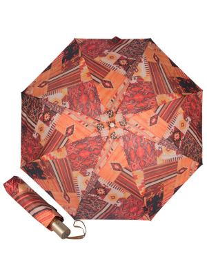 Зонт складной M&P C5867-OC Entico Orange. Цвет: терракотовый, рыжий, светло-оранжевый