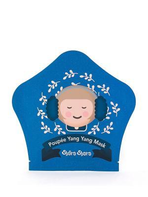 Тканевая увлажняющая маска-капсула Poupee-Yang Yang, 25г Shara. Цвет: синий