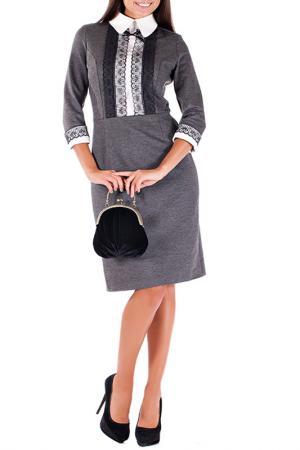 Платье Mannon. Цвет: темно-серый