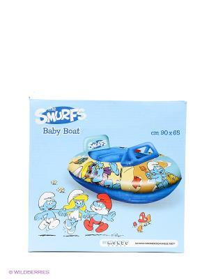 Надувная лодка  Смурфы Mondo. Цвет: голубой