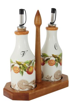 Набор из 2-х бутылок для масла LCS. Цвет: белый, красный