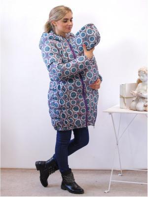 Куртка Адель. Цвет: бирюзовый, фиолетовый