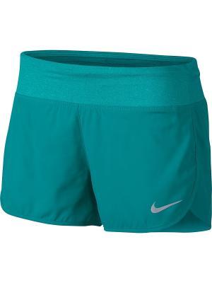 Шорты W NK FLX SHORT 3IN RIVAL Nike. Цвет: зеленый, морская волна