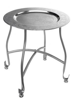 Сервировочный столик Heine Home. Цвет: серебристый