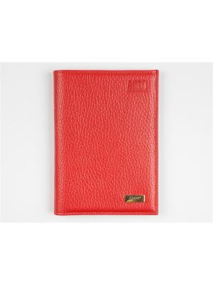 Бумажник водителя Zinger. Цвет: красный