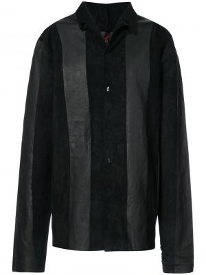 Panelled shirt jacket Ma+. Цвет: чёрный